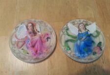2 decorative fairy/angel figurines plates