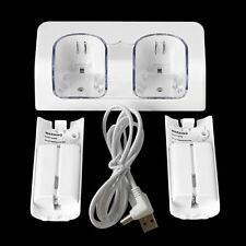 Dual Charger Station 2x 2800mAh Rechargeable Battery for Wii Remote Control OL