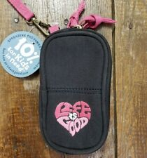 LIFE IS GOOD Nylon Wristlet Cell Phone Case Wallet Zippered Compartments NWT NEW