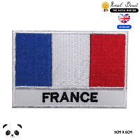 France National Flag With Name Embroidered Iron On Sew On Patch Badge