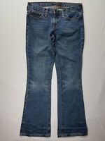American Eagle 6 Women's Boot Cut Mid-Rise 100% Cotton Denim Casual Blue Jeans
