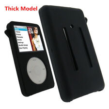 Black Silicone Skin Cover Case fr iPod Video 5 5.5th 60/80GB Classic 6th 160GB