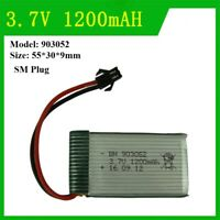 903052 1200mAh 3.7V SM Plug Li-Po Battery For RC Helicopter Drone Toys Warranty
