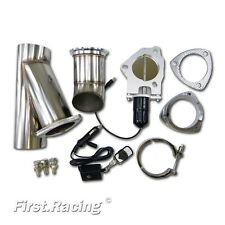 "63mm 2.5"" Electric Exhaust Cutout Catback Downpipe E-Cut Valve System Kit Remote"