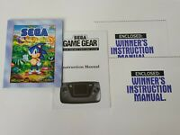 Sega Game Gear Instruction Manuals Inserts Original for Boxed System