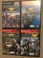Lot of 4 games: Socom 1,2,3 & Combined Assault (PS2)