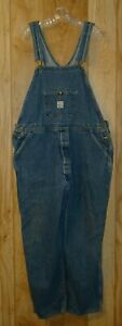 Pointer Brand Bib Overalls Men's 42 x 30 Blue Button Fly Made in the USA