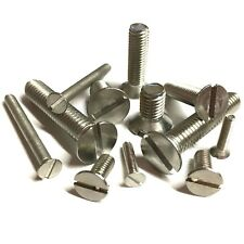 2mm 2.5mm 3mm Slotted Countersunk Machine Screws - A2 Stainless CSK Bolt DIN 963