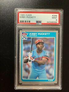 1985 Fleer Kirby Puckett Rookie #286 PSA 9