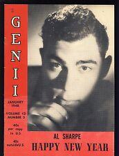 Al Sharpe Happy New Year Genii Magicians' Magazine January 1948