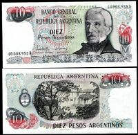 Argentina 10 Pesos Banknote, 1983-1984, P-313, UNC, South America Paper Money