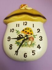 """VTG 1976 Sears Roebuck and Co. """"Merry Mushroom"""" Wall Clock: NEW BATTERY INCLUDED"""