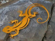 Salamander Edelrost Gecko Dekoration Deko Metall Garten Rost Gartendeko 300mm
