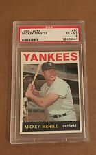 1964 TOPPS BASEBALL #50 MICKEY MANTLE PSA 6 EX-MT HOF YANKEES FREE Shipping