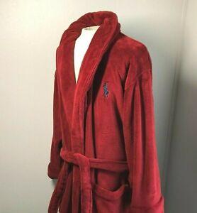 Polo Ralph Lauren Robe One Size Plush Red Pony Logo