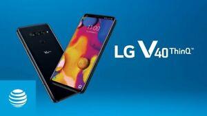"""New in Sealed Box LG V40 ThinQ V405TA 64GB 6.4"""" T-Mobile Smartphone Aurora Black"""