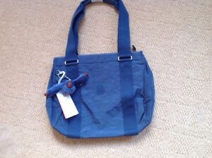New With Tags Kipling 'Robin' Bag in the shade of 'Dust Blue'