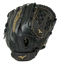 "Mizuno Mvp Prime Fastpitch Softball Baseball Glove Rh Wear, 12.5"" Black Gold"