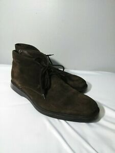 TOD's ankle boots, brown suede, men's shoe size US 8.5