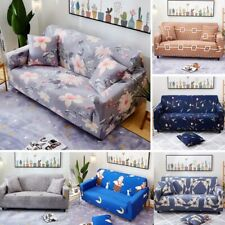1/2/3/4 Seater Elastic Slipcovers Sofa Case Non-slip Protector Soft Couch Cover