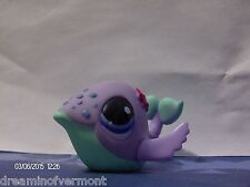 Littlest Pet Shop Purple and Teal Whale with Blue Eyes #1134