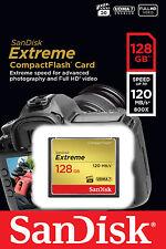 SanDisk 128GB Extreme Compact Flash 800X High Speed CF Memory Card  UDMA7 120MBs