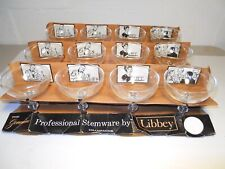 LIBBEY GLASS SET OF 12 GENUINE PROFESSIONAL STEMWARE CHAMPAGNE GLASSES