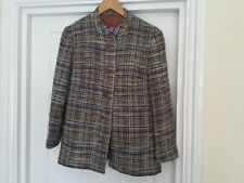 AQUASCUTUM Tweed Boucle Multicolour Jacket with mandarin collar. Size S/M