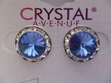 Blue Crystal Earrings dance moms Ballroom competition perfomance swarovski kids