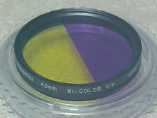 49MM ROKUNAR ALUMINUM BI-COLOR Y/P DOUBLE THREADED FILTER MADE IN JAPAN
