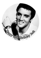 "Elvis Presley Personalized Cake Topper Icing Sugar Paper 7.5"" image m1"