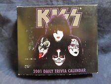 KISS BAND 2001 DAILY TRIVIA CALENDAR IN BOX