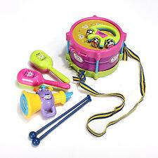 New 5pcs Baby Roll Drum Musical Instruments Kids Drum Set Children Toy Fun Gift