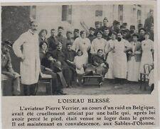 1915  --  L AVIATEUR VERRIER EN CONVALESCENCE AUX SABLES D OLONNE  3E613