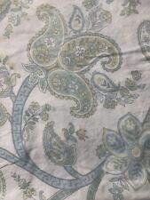 2 Wellesley Manor Paisley Pillow Shams King Blue Green Cotton