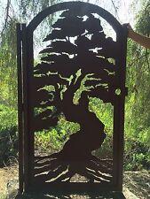 Bonsai Tree Gate Custom Pedestrian Walk Thru Entry Walk Thru Steel Garden Art
