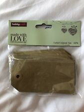 Hobbycraft Large Luggage Tags Gift Brown x 30