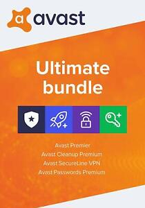 AVAST Ultimate 2021 1 PC 2 Jahre | Vollversion/Upgrade Antivirus 2022 DE avast!