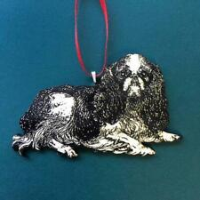 Christmas Ornament King Charles Spaniel Dog Flat Birch Wood Laser Etched Image