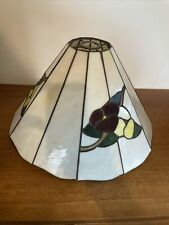 tiffany ceiling light shade, excellent condition.Stained glass floral design.