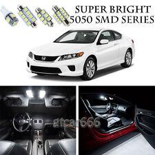 5050 SMD White LED Interior Lights Package Kit For 2013-2017 Honda Accord 12pcs