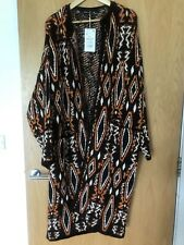 Zara Knit Cardigan Long Coat Size Small