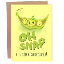 Funny Birthday Card For Women Her Friend - Oh Snap Vegetable Card