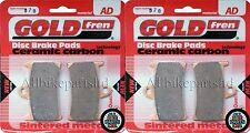 YAMAHA FZS600 FAZER (98-03) > SINTERED FRONT BRAKE PADS (2 pair) *GOLDFREN*