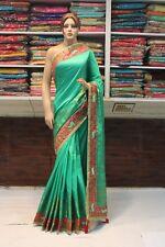 Bollywood Indian Traditional Banarasi Art Silk Saree Sari Bridal Party Dress