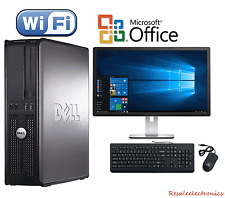 Clearance! Fast Dell Desktop Computer Pc Core 2 Duo Windows 10 + Lcd + Kb + Ms