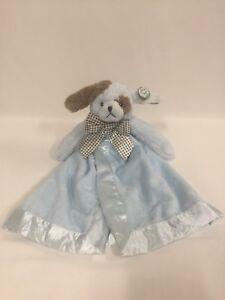 Bearington Bears Wiggles Blue Dog Snuggler Extra Soft Security Blanket New