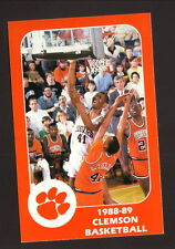 Clemson Tigers--Elden Campbell--1988-89 Basketball Pocket Schedule--First Union