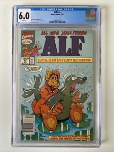 Alf #48 CGC 6.0 Newsstand Controversial Seal Cover Banned, Scarce, Rare White Pg