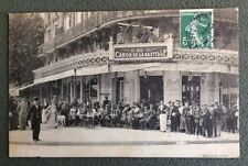 CPA. PARIS. 75 - Café AU CANON DE LA BASTILLE. 1912. Serveur. Clients.